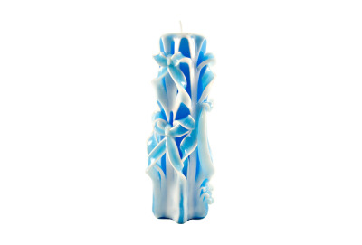Sculptured Candle Blue Large