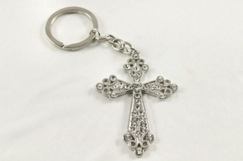 crome keyring cross