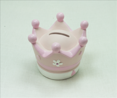 pink crown moneybox